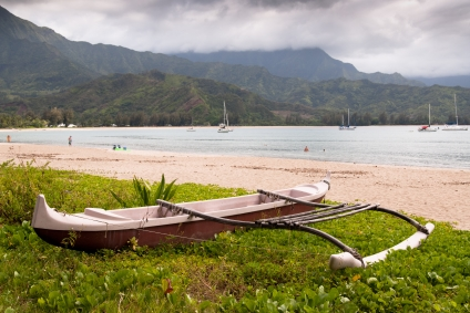 An outrigger canoe from Hawaii