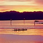 Whai Rere - winter paddle in the sunset