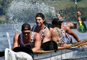 VO2 Masters Men W6 wins Gold at Waka Ama Sprints